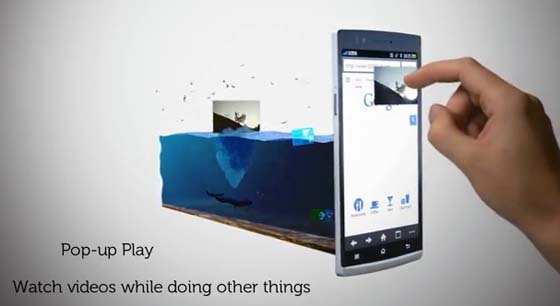 OPPO Find 5 pop-up-play Video