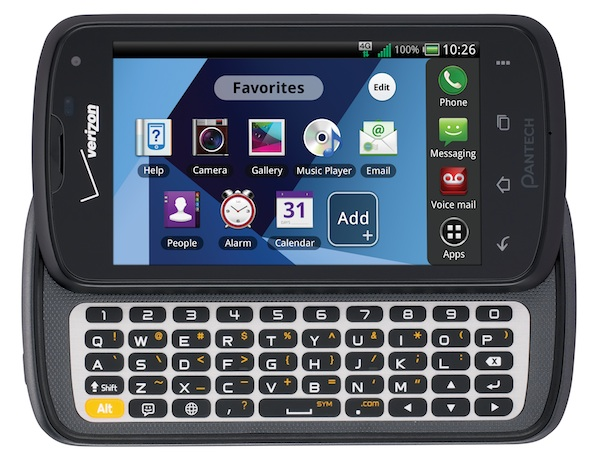 Pantech Marauder QWERTY slider gets official for Verizon  runs  50