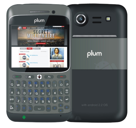 Plum Plum Velocity OS Android OS  v2 2  Froyo  Plum Mobiles Phones
