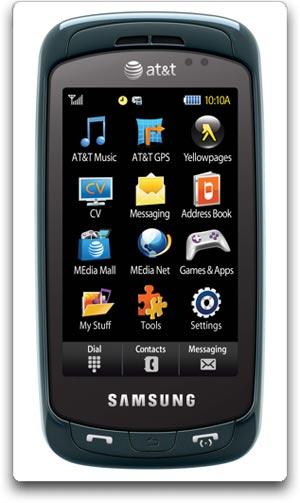 Amazon com  Samsung Impression a877 Phone  Blue  ATT   Cell