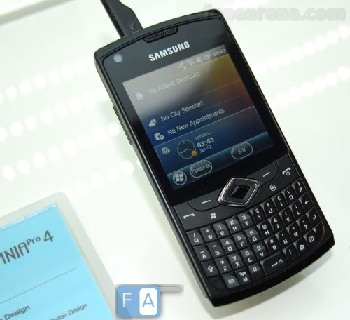 Samsung shows off Omnia Pro 4 5 featuring Windows Mobile 6 5 3