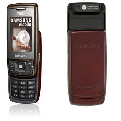 RED Samsung DuoS D880 Dual SIM Card Phone