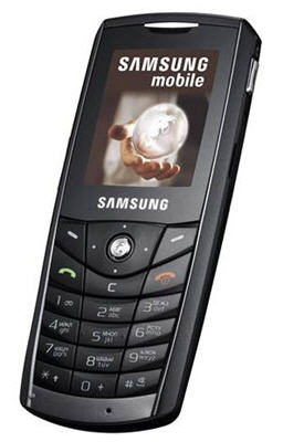 Samsung E200 phone photo gallery  official photos