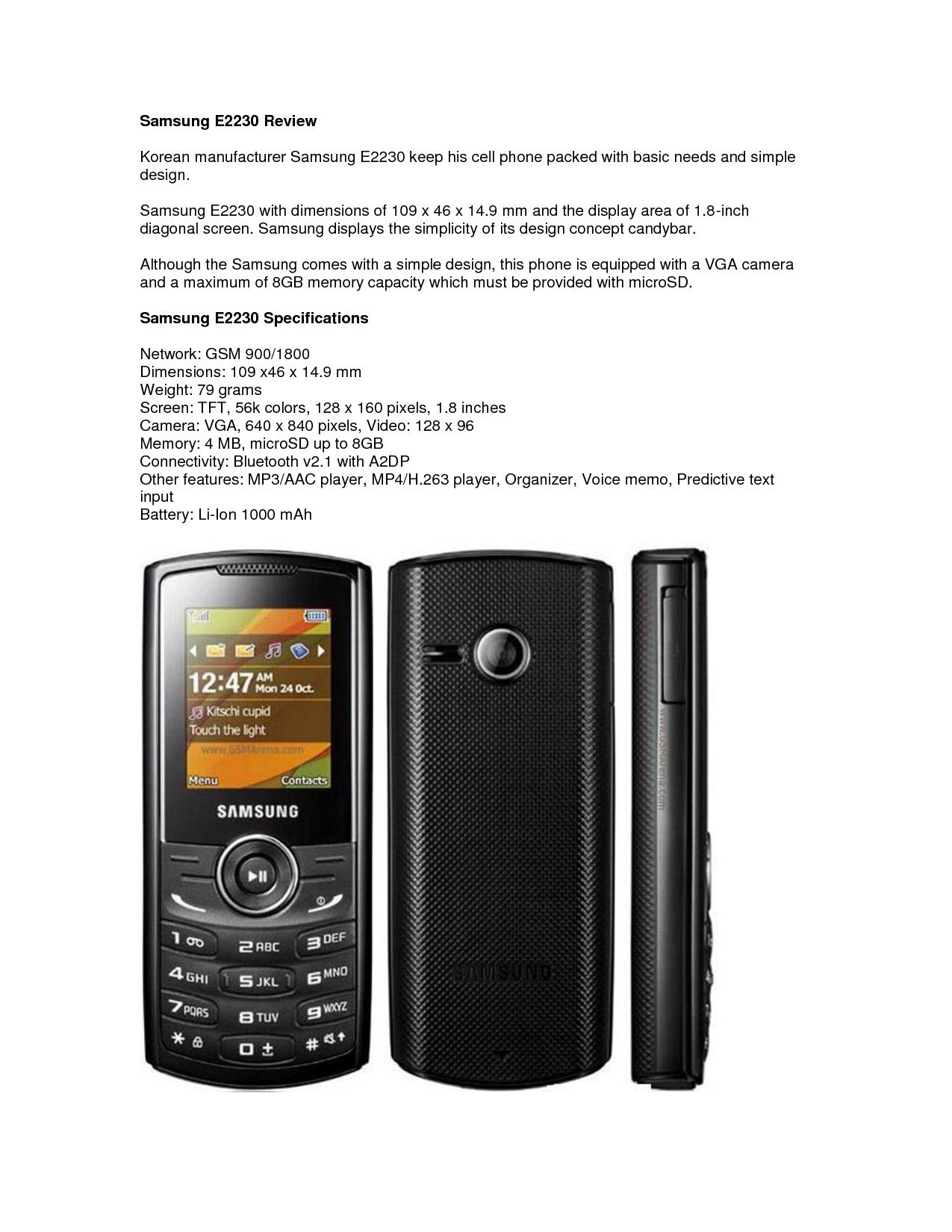 Samsung E2230 Review