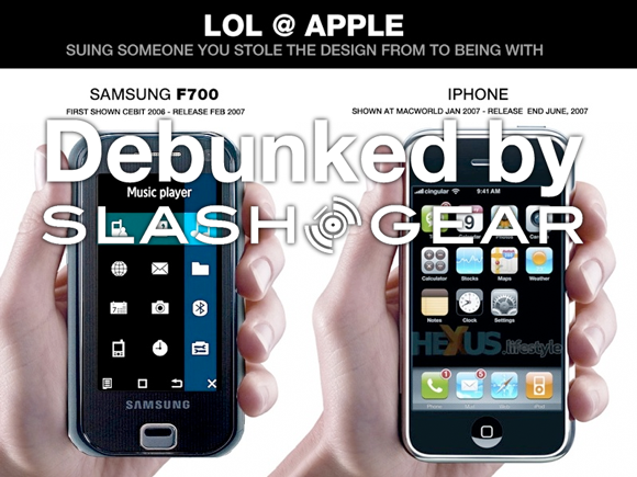 Who was really first  Apple vs Samsung F700 Story Truly Debunked