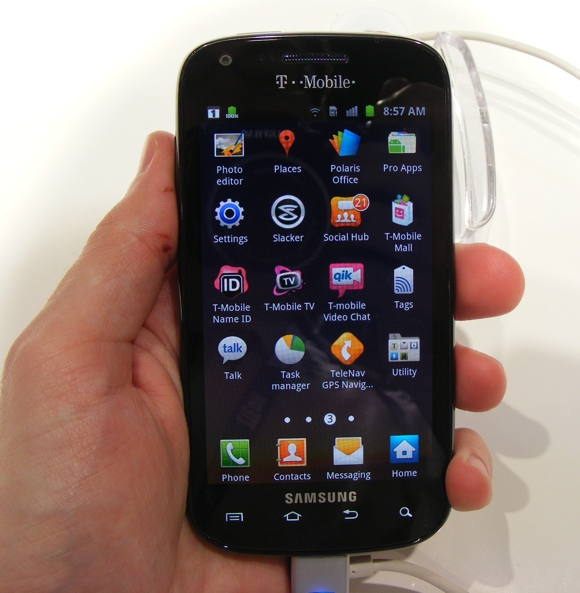 MWC 2012  T Mobile Samsung Galaxy S Blaze 4G  SGH T769  hands on