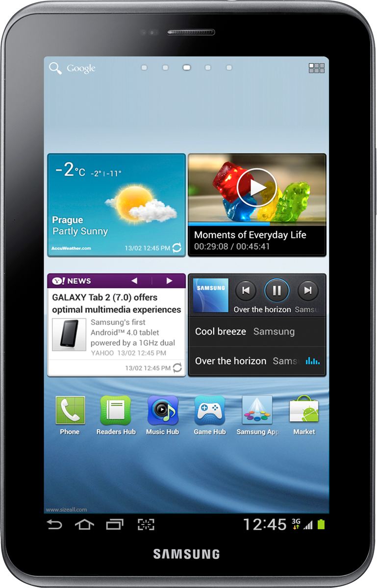 samsung tablet png. samsung galaxy tab 2 7 0 p3110 actual size view photos and tablet png y