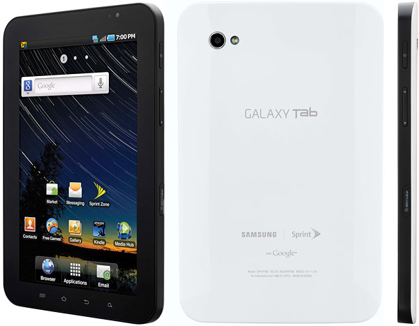 Samsung Galaxy Tab CDMA P100 pictures  official photos