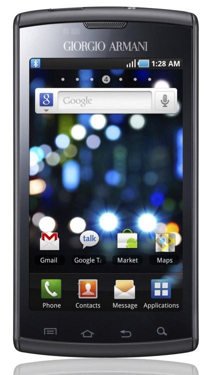 Samsung I9010 Galaxy S Giorgio Armani   Specs and Price   Phonegg