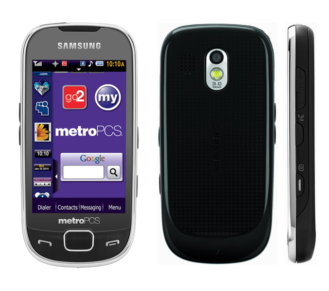 Samsung Caliber  SCH r860  touchscreen phone available at MetroPCS