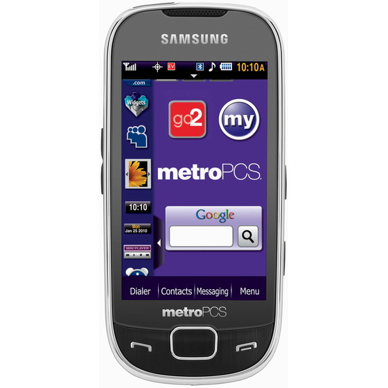 Samsung Caliber R860 touchscreen phone launched by MetroPCS