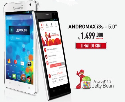 Review Smartfren Andromax i3s lengkap