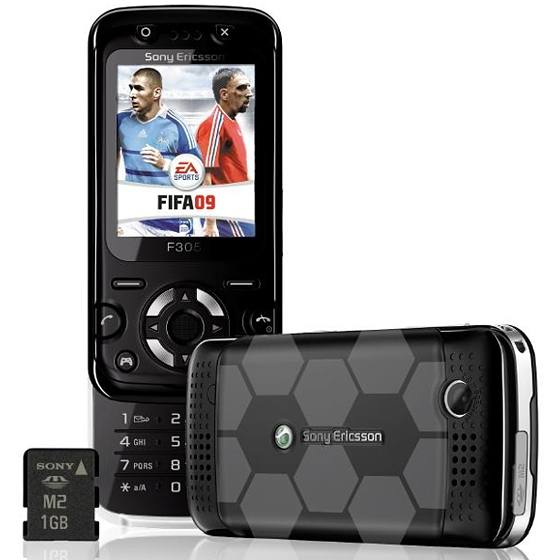 Sony Ericsson F305 FIFA 2009 launched by Virgin Mobile France