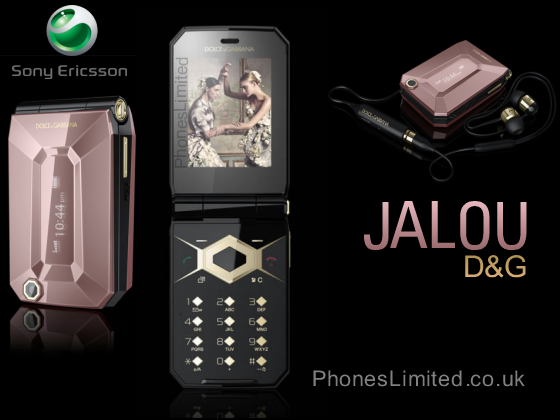 Sony Ericsson Jalou DG  Dolce Gabbana  Announced for Release UK