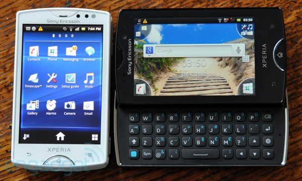 Sony Ericssons tiny Xperia Mini and Mini Pro on sale now in