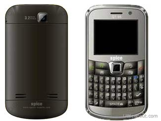 Dual SIM 3G   3G mode QWERTY Spice QT 95 launched by Spice Mobiles