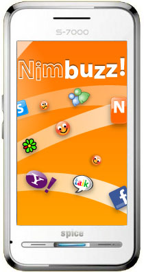 Nimbuzz comes preinstalled on Spice S7000 handset