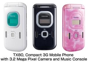 www welectronics com   TOSHIBA TX80 TX 80 gsm UMTS 3G triBand