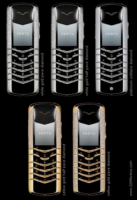 Vertu Diamond  88 000    47 567   One of the most expensive phones