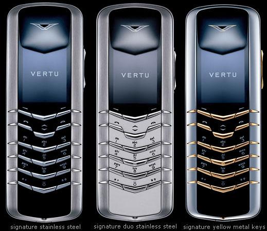 Vertu Signature phone photo gallery  official photos