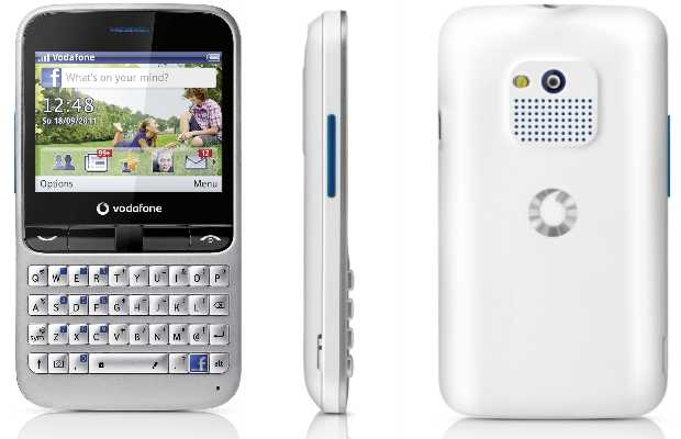 Vodafone 555 Blue Facebook Budget PAYG Phone  Release Price