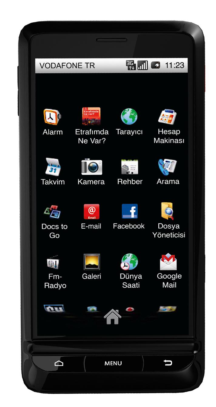 Vodafoneun yeni Androidli telefonu 945 T  rkiyede   Radikal