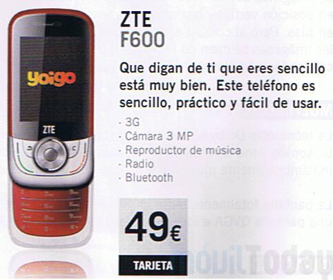 ZTE F600 por 49    con Yoigo prepago