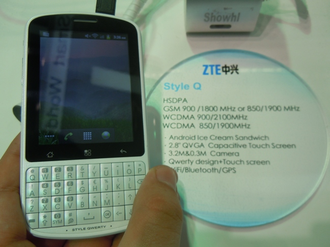 ZTE Smartphones and Tablets Line up at MWC 2012
