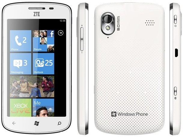ZTE Tania arrives in the UK  affordable 4 3 inch Windows Phone
