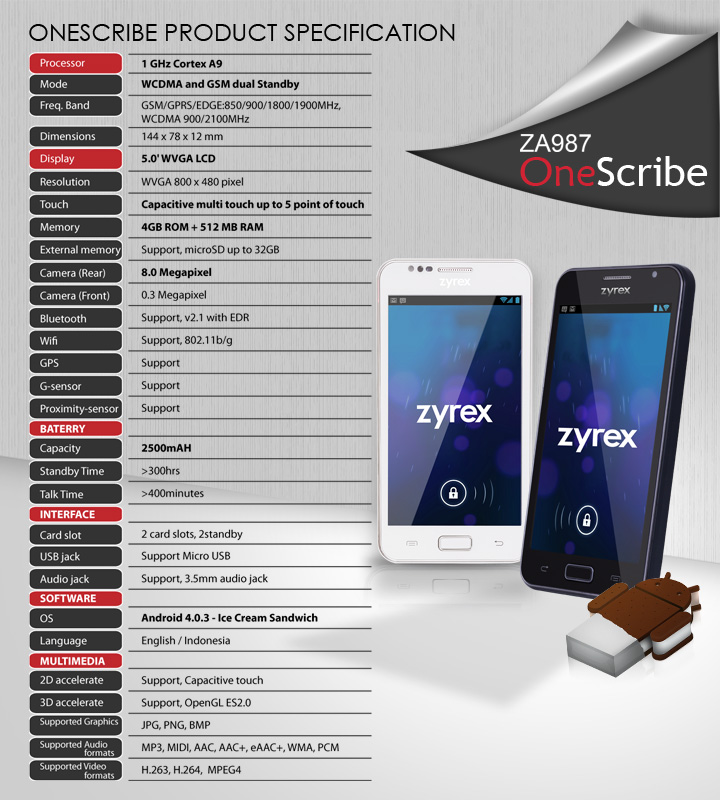 OneScribe ZA987   Mobile Phone   Zyrex